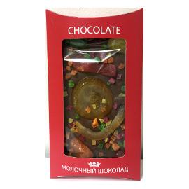 Шоколад молочный с фруктами LORD, 130 гр.