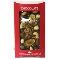 Шоколад молочный с орехами LORD, 130 гр.