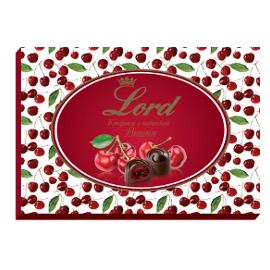 Шоколадные конфеты с начинкой Вишня LORD, 155гр