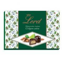 Шоколадные конфеты с начинкой Миндальный марципан со вкусом лайма LORD, 155гр