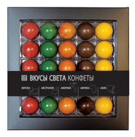 Шоколадные конфеты Вкусы света с начинкой CHCO, 200 гр