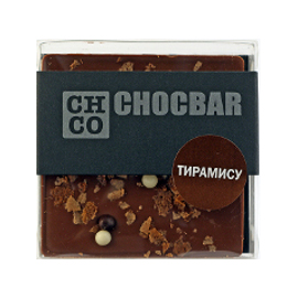 Шоколад молочный Тирамису CHCO, 60гр