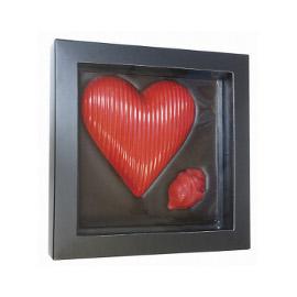 Шоколад молочный сердце и роза DE LUXE CHCO, 300 гр