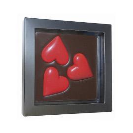Шоколад молочный 3 сердца DE LUXE CHCO, 300 гр
