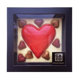 Шоколад молочный сердце с конфетами DE LUXE CHCO, 380 гр