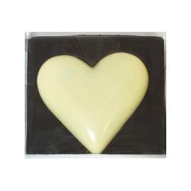 Шоколад молочный сердце белое DE LUXE CHCO, 60 гр