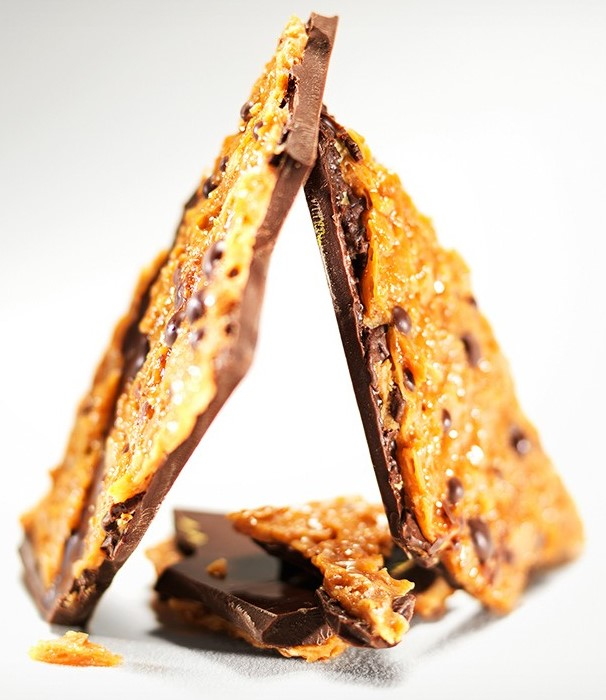 Шоколад темный (слой флорентийского миндаля) LADERACH, 100г