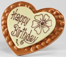 Шоколад молочный сердце Happy Birthday (фундук) LADERACH, 250г