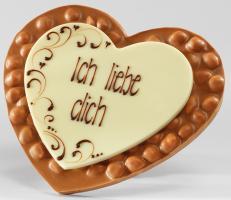 Шоколад молочный сердце Ich liebe dich (фундук) LADERACH, 250г