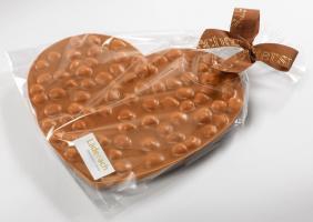 Шоколад молочный сердце (фундук) LADERACH, 200г
