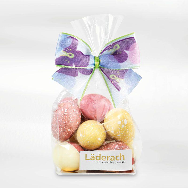 ЯЙЦА белый шоколад с фруктовым вкусом LADERACH, 100г