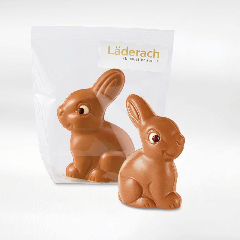 ЗАЯЦ молочный шоколад с фундуком LADERACH, 2,5г