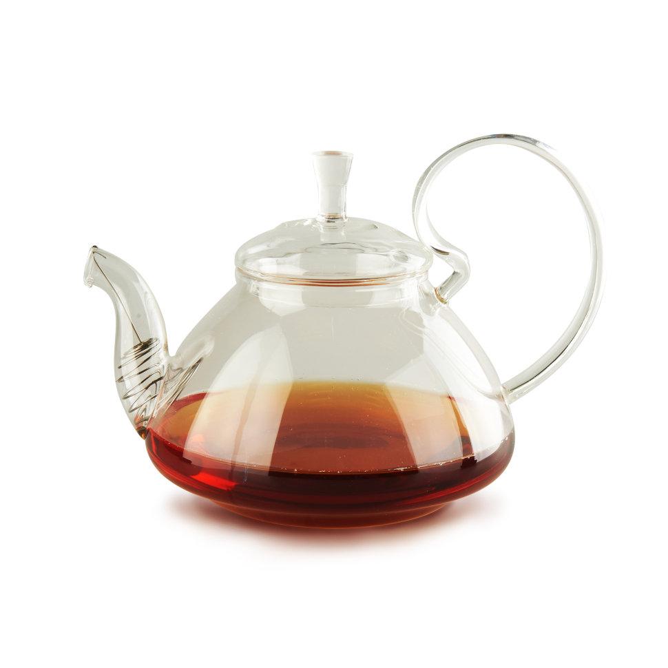 Чайник из жаропрочного стекла Клюква, 1200 мл