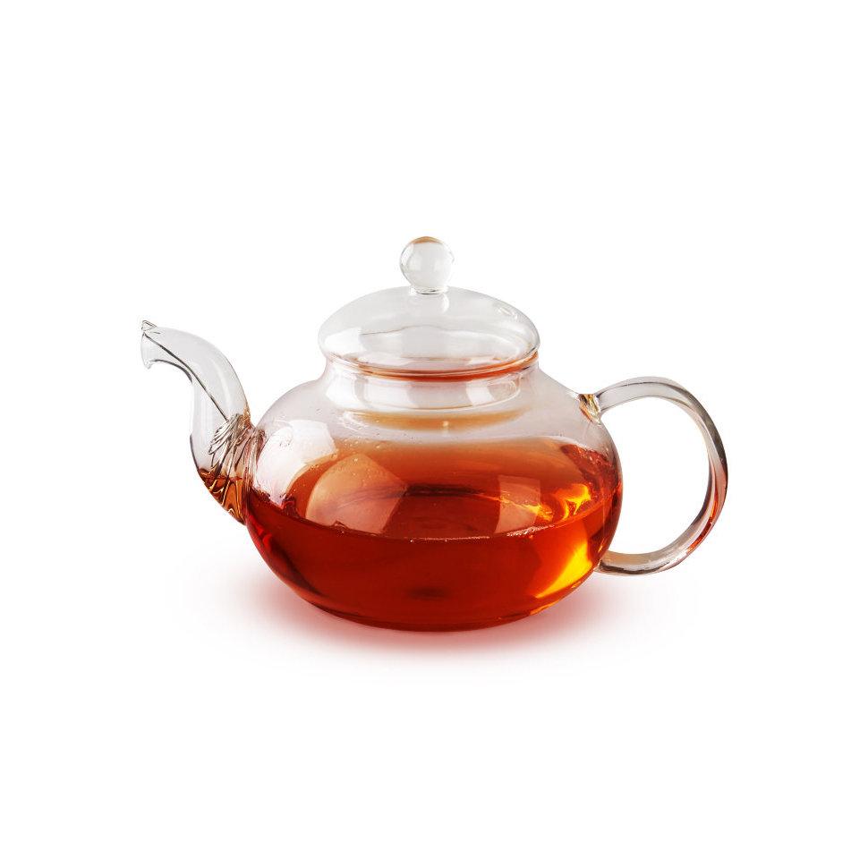 Чайник из жаропрочного стекла Смородина без заварочной колбы, 600 мл