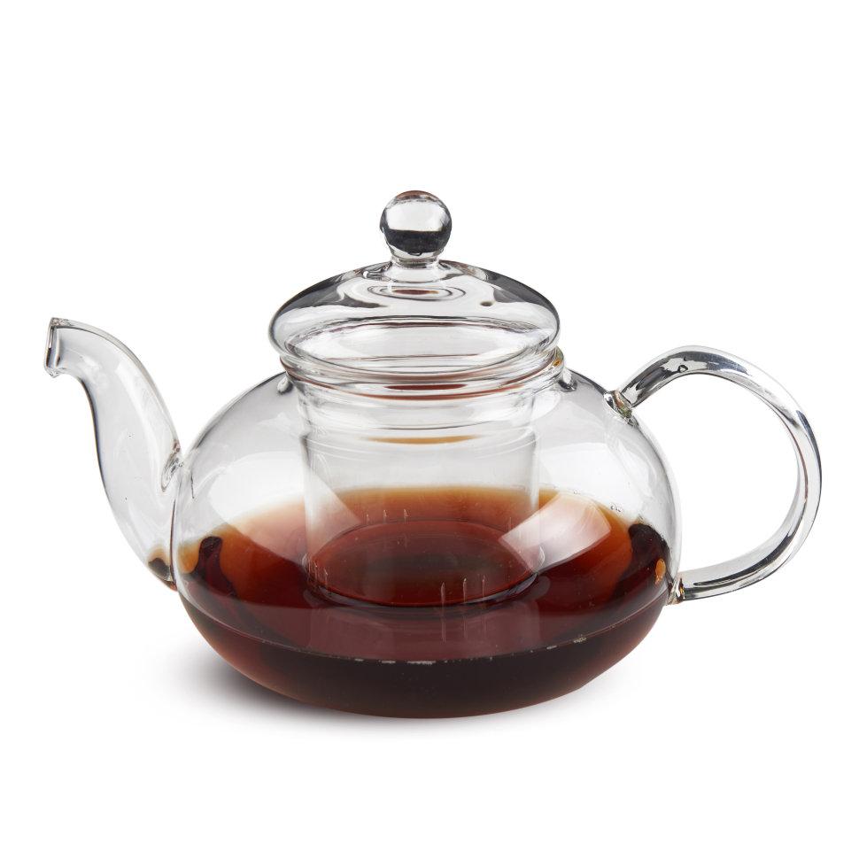 """Чайник из жаропрочного стекла """"Смородина"""" с заварочной колбой, 600 мл"""