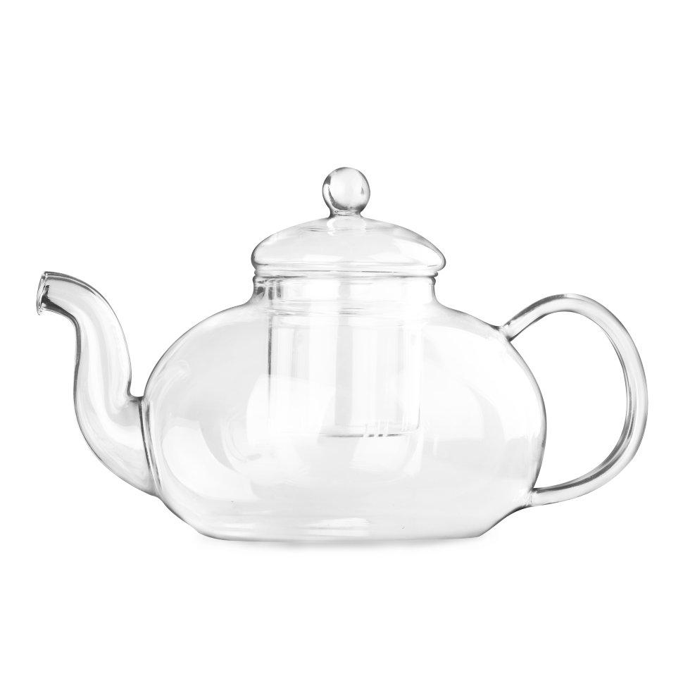 Чайник из жаропрочного стекла Смородина с заварочной колбой, 1500 мл