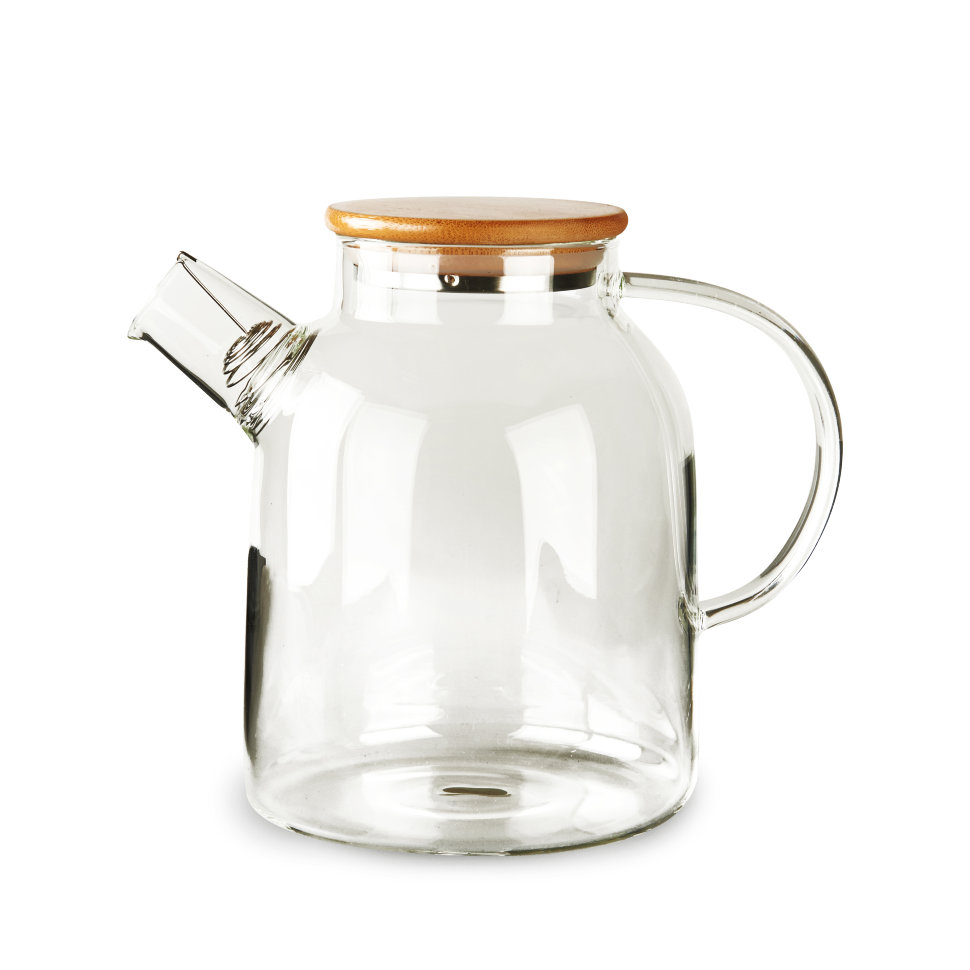 Чайник из жаропрочного стекла Бочонок, 1500 мл