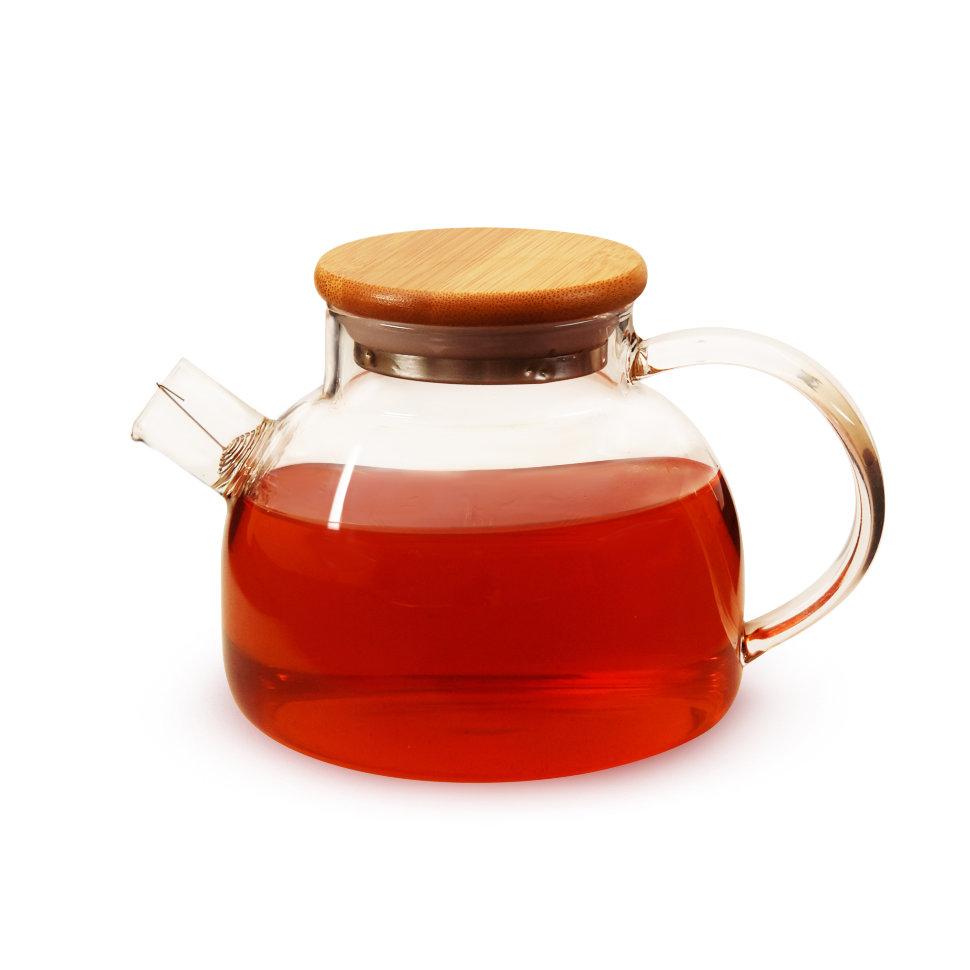 Чайник из жаропрочного стекла Бочонок, 900 мл