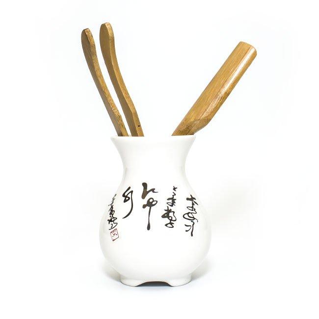 Инструменты для чайной церемонии Письмена  (Фарфор, Дерево)