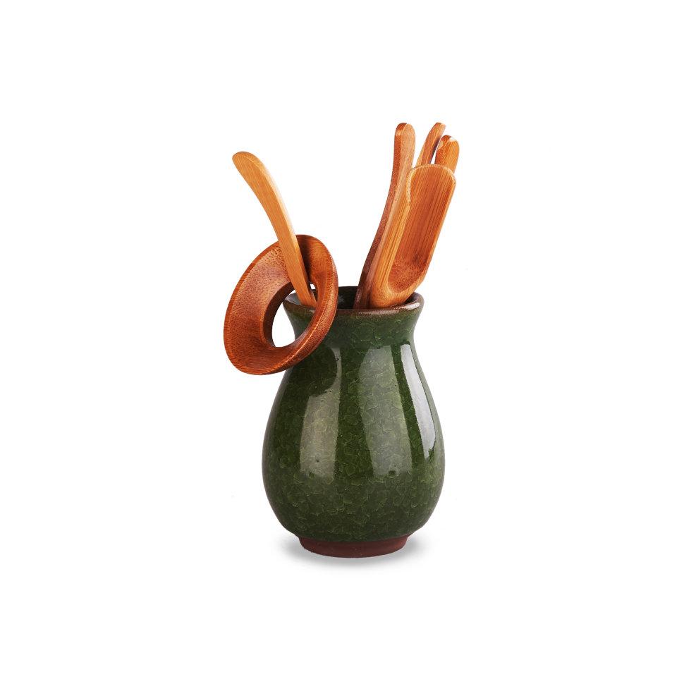 Инструменты для чайной церемонии Колотый лед Зеленый, 6 предметов