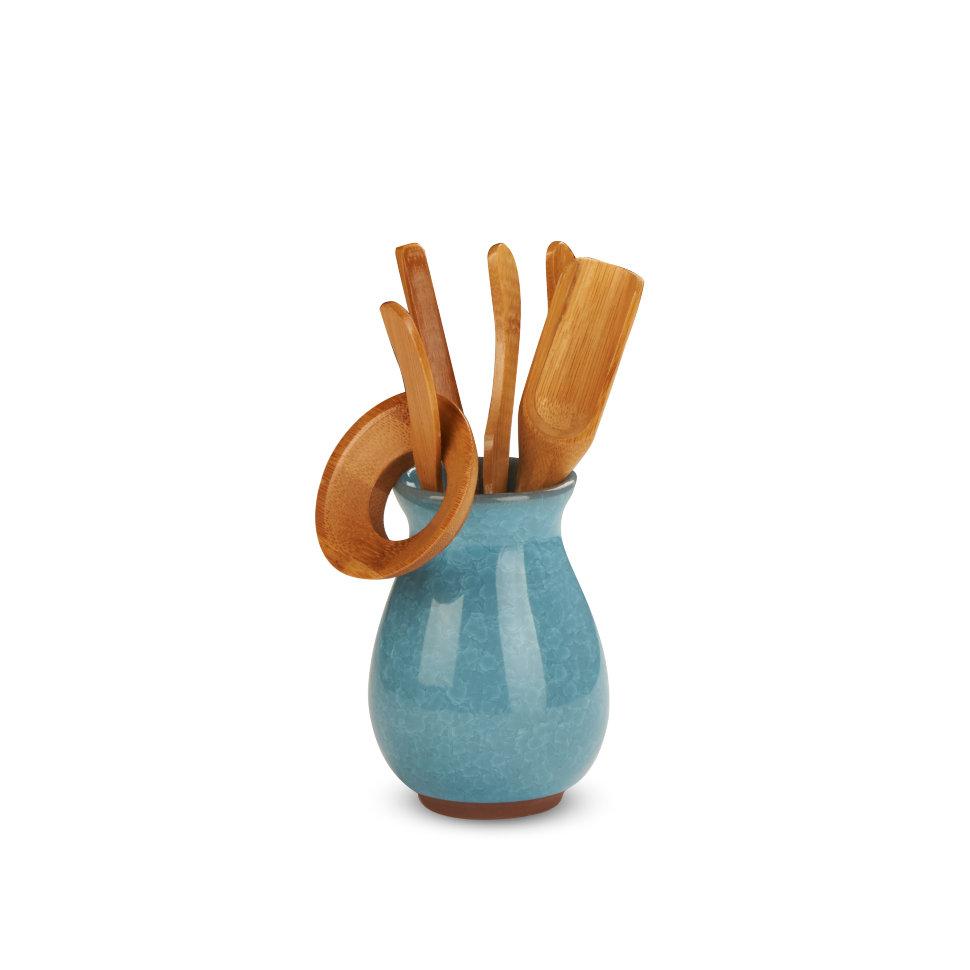 Инструменты для чайной церемонии Колотый лед Голубой, 6 предметов
