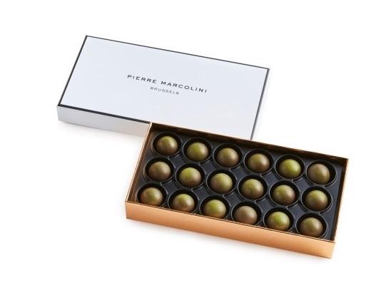 Шоколад PIERRE MARCOLINI, трюфель с чаем Matcha 18 шт, 104 гр