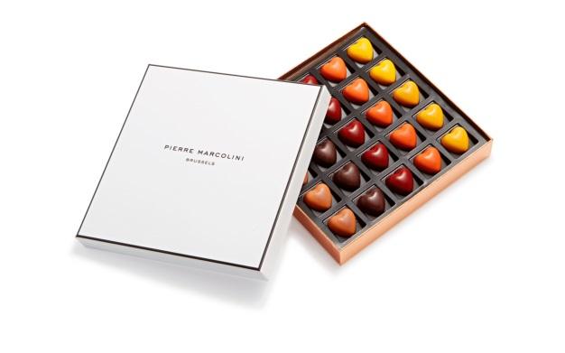 Шоколад PIERRE MARCOLINI, 25 HEARTS, сердца, 177 гр