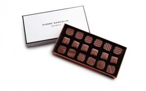 Шоколад PIERRE MARCOLINI, ANCIENS D'AUJOURD'HUI, молочное пралине, 110 гр