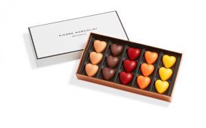 Шоколад PIERRE MARCOLINI, 15 HEARTS, сердца, 107 гр