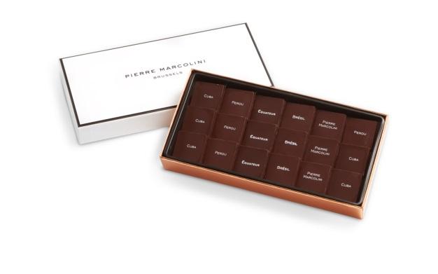 Шоколад PIERRE MARCOLINI, SAVEURS DU MONDE, ассорти - темный GRAND CRU, 72 гр