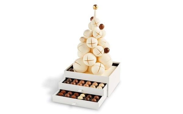 Шоколад PIERRE MARCOLINI, WHITE CHRISTMAS TREE, ЕЛКА РОЖДЕСТВЕНСКАЯ с конфетами, 1450 гр