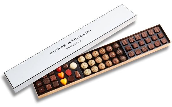 Шоколад PIERRE MARCOLINI, XL BOX CHRISTMAS, ассорти, 412 гр