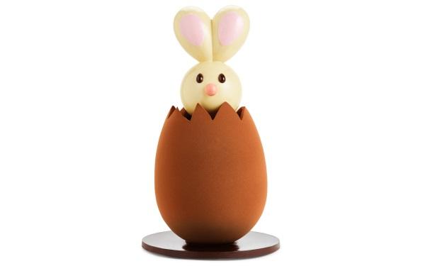 Шоколад PIERRE MARCOLINI, КРОЛИК гигант - белый шоколад + яйцо темный шоколад, 13000г