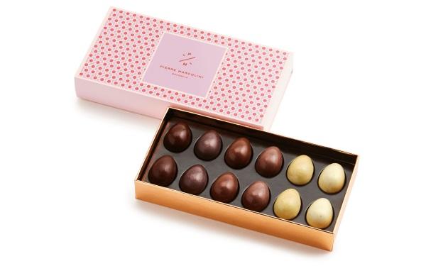 Шоколад PIERRE MARCOLINI, НАБОР 12 яиц - ассорти, 120г