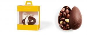 Шоколад PIERRE MARCOLINI, ЯЙЦО большое - темный шоколад + ассорти 24 яиц, 400г