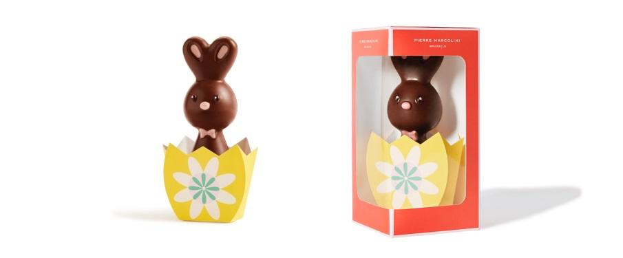 Шоколад PIERRE MARCOLINI, КРОЛИК - молочный шоколад, 50г