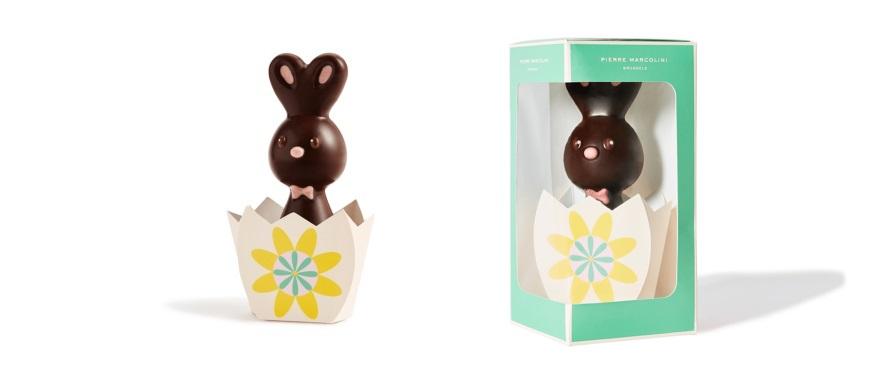 Шоколад PIERRE MARCOLINI, КРОЛИК - темный шоколад, 50г