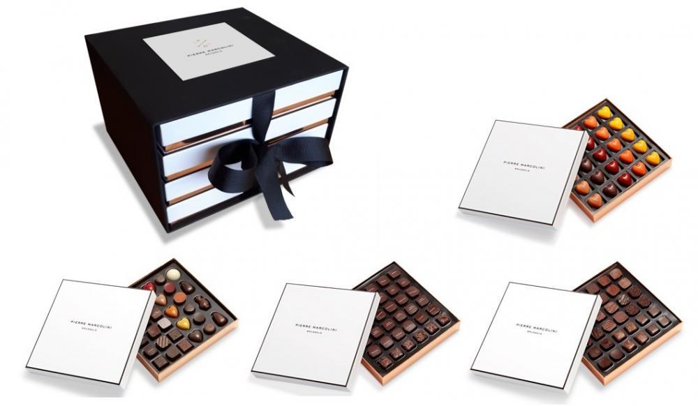 Шоколад PIERRE MARCOLINI в коробке ярусами, COLLECTION, четыре яруса, 839г