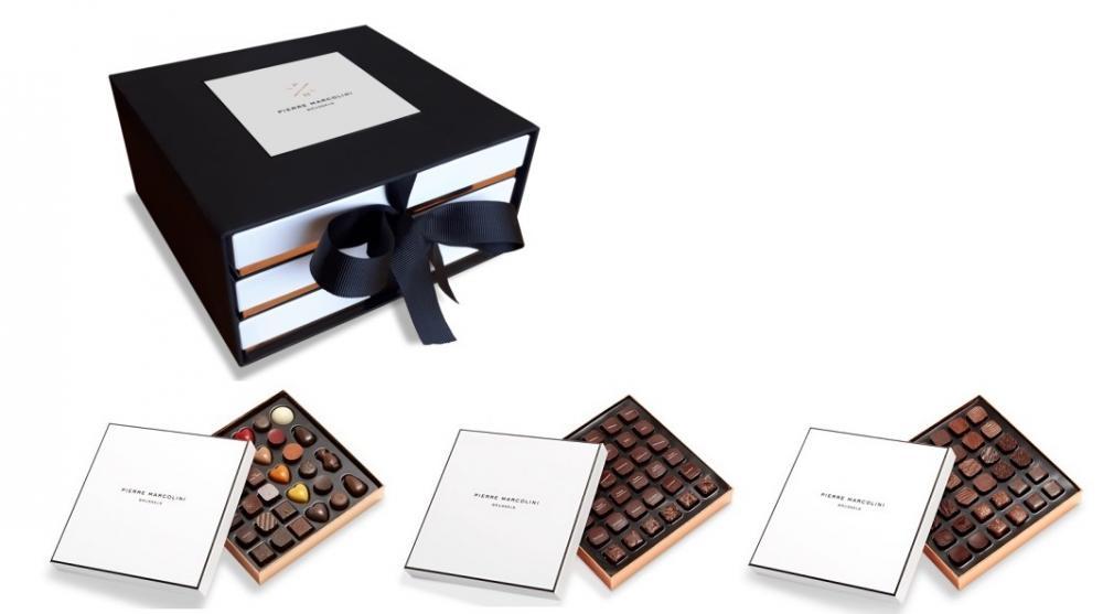 Шоколад PIERRE MARCOLINI в коробке ярусами, SIGNATURE, три яруса, 662г