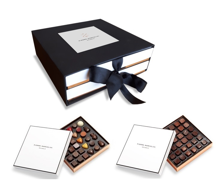 Шоколад PIERRE MARCOLINI в коробке ярусами, DISCOVERY, два яруса, 442г