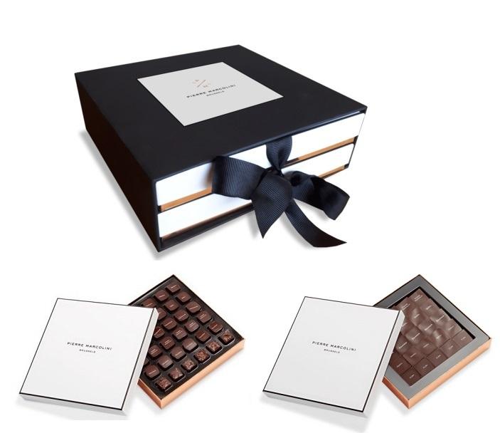 Шоколад PIERRE MARCOLINI в коробке ярусами, CONNOISSEUR, два яруса, 320г