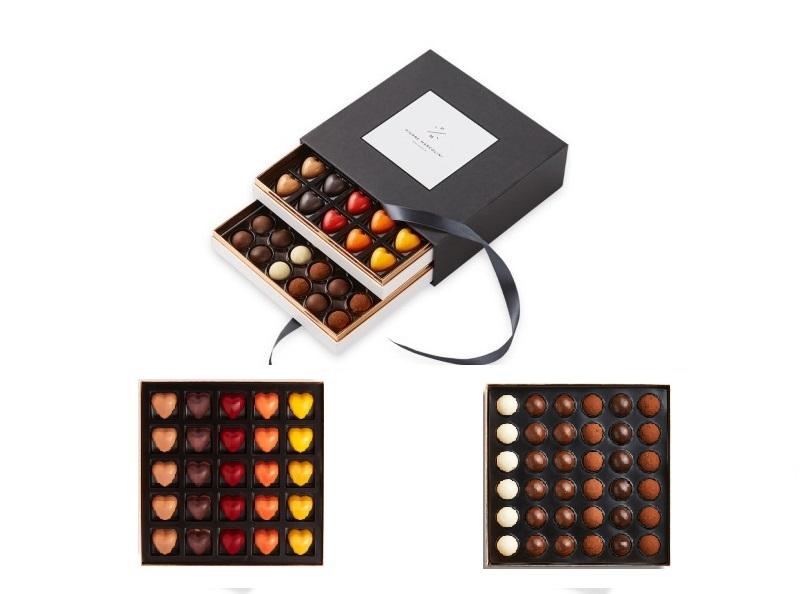 Шоколад PIERRE MARCOLINI в коробке ярусами, EMOTION, два яруса, 377г