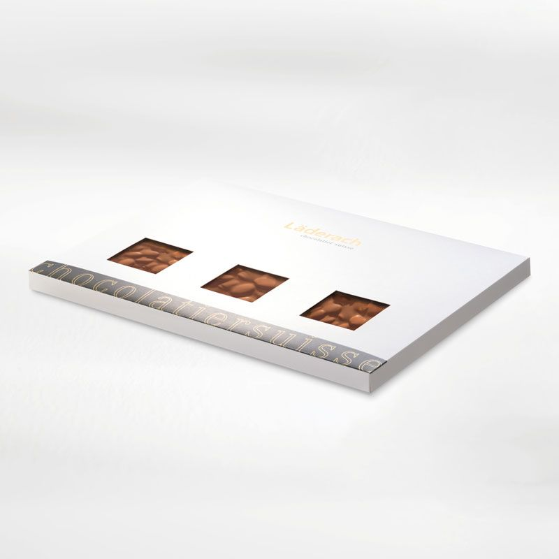 Шоколад молочный в коробке (с хлопьями жареного миндаля) LADERACH, 800г