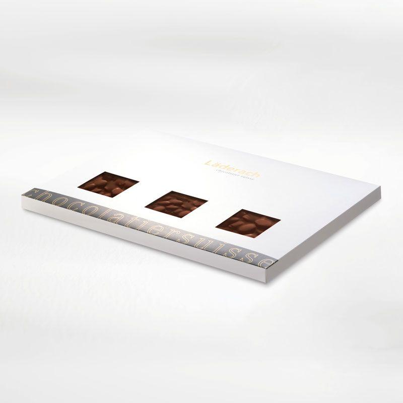 Шоколад темный в коробке (апельсин, миндаль) LADERACH, 700г