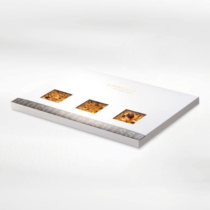 Шоколад темный в коробке (со слоем флорентийского миндаля) LADERACH, 760г