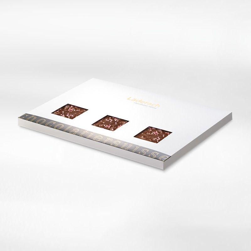 Шоколад темный в коробке (с кешью и клюквой) LADERACH, 800г
