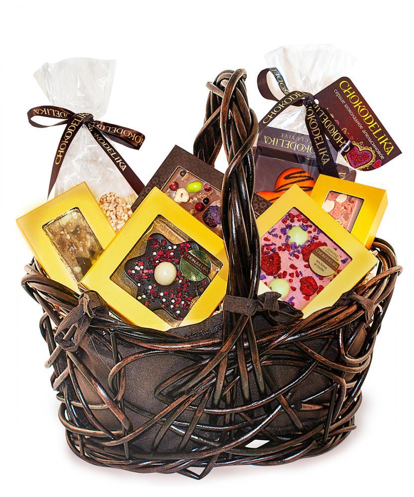 Подарочная корзина шоколада, конфет Chokodelika Премиум №3, 365г