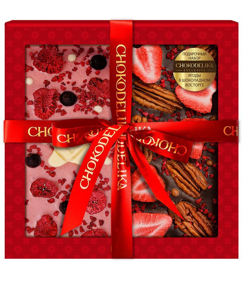 Подарочный набор Ягоды в шоколадном восторге, 200 г, в коробке