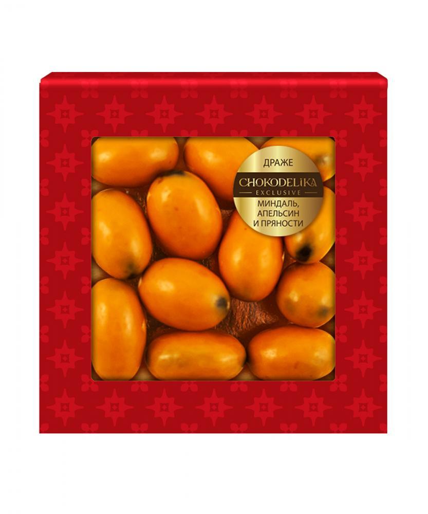 Драже Миндаль, апельсин и пряности, 45 гр, блистер