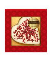Марципановая конфета Chokodelika Сердце в белом шоколаде, 30 гр